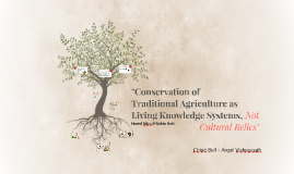 """Conservation of Traditional Agriculture as Living Systems,"