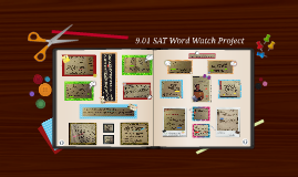 9.01 SAT Word Watch Project