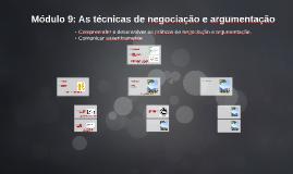 Módulo 9: As técnicas de negociação e argumentação