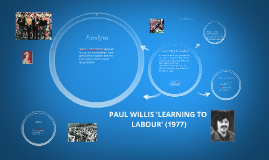 Copy of Copy of PAUL WILLIS 'LEARNING TO LABOUR'