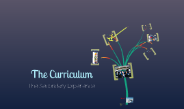 The Curriculum - Secondary School  - London Met - Week 3