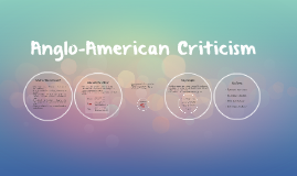 Copy of Anglo-American Criticism