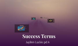 Success Terms