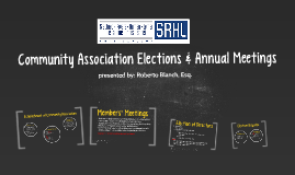 Community Association Elections & Annual Meetings