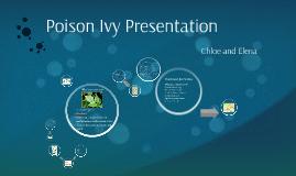Poison Ivy Presentation