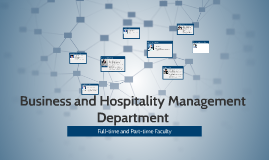 Business and Hospitality Management Department