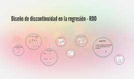 Diseño de discontinuidad en la regresión - RDD