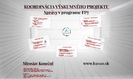 Koordinácia výskumného projektu