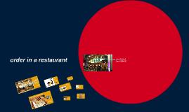 order in a restaurant