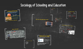 Copy of Copy of Sociology of Schooling and Education
