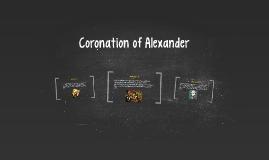 Coronation of Alexander