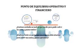 PUNTO DE EQUILIBRIO OPERATIVO Y FINANCIERO