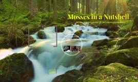 Moss in a nutshell