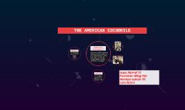 The American crocodile