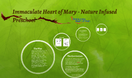 Immaculate Heart of Mary - Nature Infused Preschool