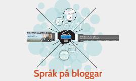 talspråk på blogga