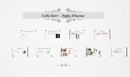 Leila Kerr - Pott's Disease