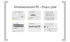 Informatiemodel PE - Project plan