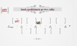 Norsk språkhistorie på 1800-tallet