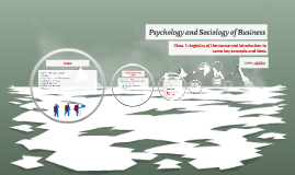 Psychology and Sociology of Business