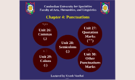 Writing Y1 - S2 - Chapter 4 - Punctuations