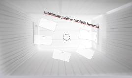 Fundamento jurídico: Televisión Nacional