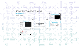 ICS4UR - Year End Portfolio