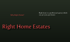 Right Home Estates