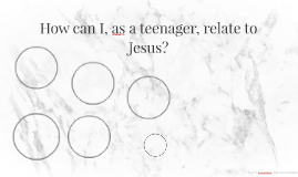 How can I,as a teenager, relate to Jesus?