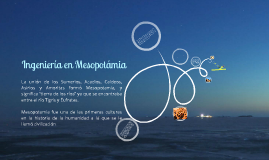 Ingeniería en Mesopotamia