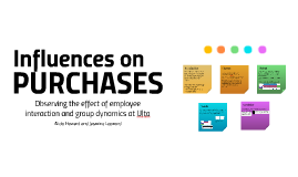 Influences on Purchases