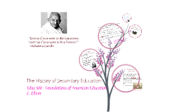 The History of Secondary Education
