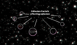 Cohesion-Factors effecting cohesion