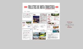 FOLLETOS DE RUTA TURISTICA