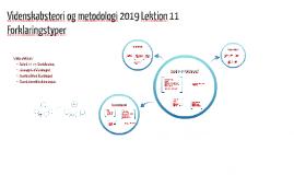 Videnskabsteori og metodologi 2013 Lektion 7