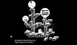 Accidente industrial por la fuga de gases licuados