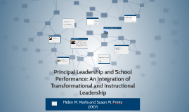 Copy of Principal Leadership and School Performance: An Integration