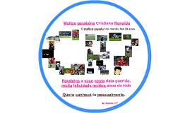 Muitos parabéns Cristiano Ronaldo