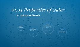 01.04 Properties of water