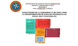 Capacitación de la comunidad del Barrio 17 de Junio para la