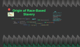 Origin of Race-Based Slavery