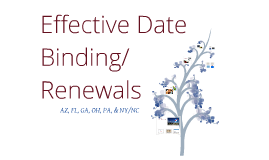 Effective Date Binding - Renewals