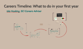 Careers Timeline: Year 1 (MTH)