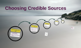 Choosing Credible Sources