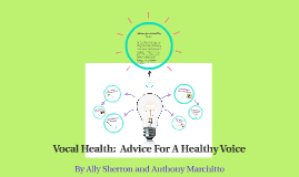 Vocal Health:  Advice For A Healthy Voice