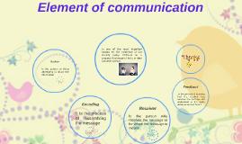 Element of Communication