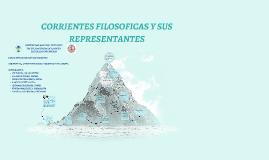 Copy of CORRIENTES FILOSOFICAS Y SUS REPRESENTANTES