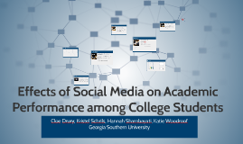 Copy of Effects of Social Media on Academic Performance among Colleg