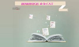 HOMOFONAS  de la C,S,Z