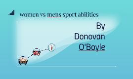 women vs mens sport abilities